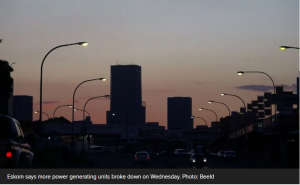 Lights out in parts of Gauteng as 'load reduction' strikes again
